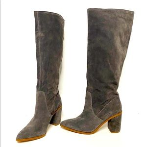 1. STATE 'Paiton' Suede Heeled Boots